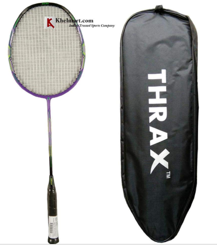 Thrax Streak X 102 79Gms Weight 30 Lbs Tension Badminton Racket