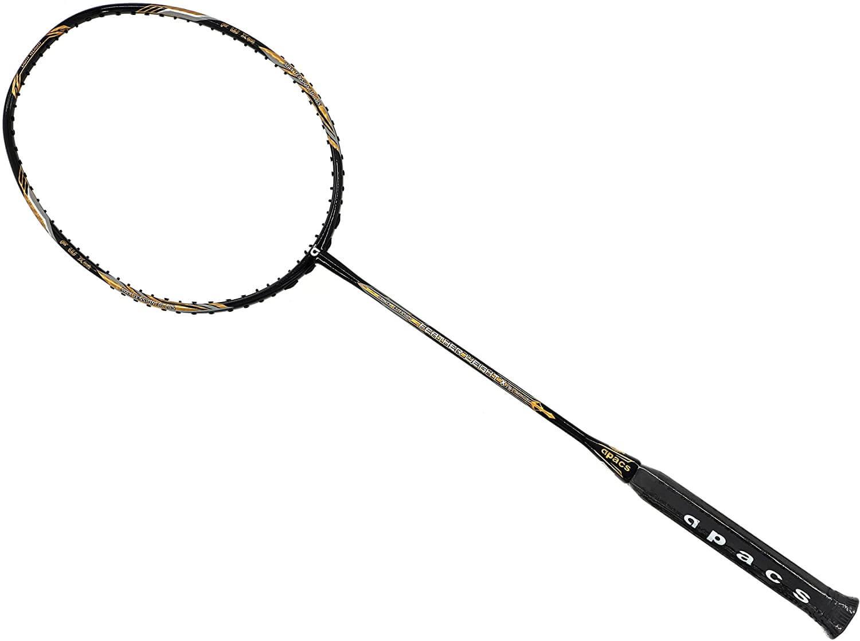 Amazon.com : Apacs Feather Weight XS Black Gold Badminton Racket (8U) Worlds Lightest Badminton Racket : Sports & Outdoors
